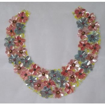Image de HAND EMBROIDERY WITH SEQUINS & BEADS