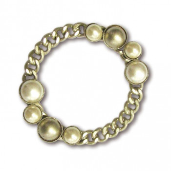 Image of Pearls ring composed by chain and settings